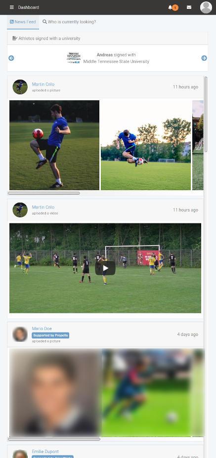 Smarthlete - Newsfeed